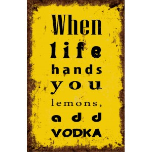 lemons add vodka