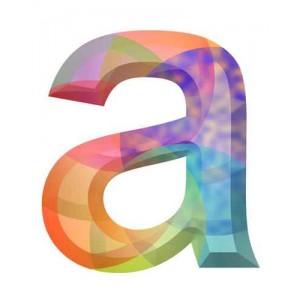litera A kryształ