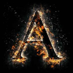 litera a - ogień