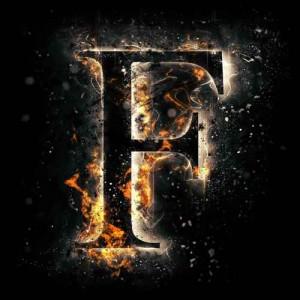 litera f - ogień