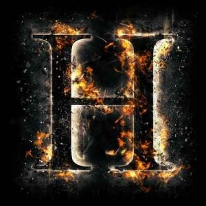litera h - ogień