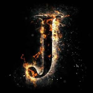 litera j - ogień
