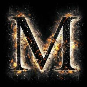 litera m - ogień