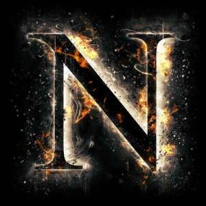 litera n - ogień