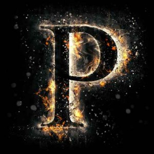 litera p- ogień