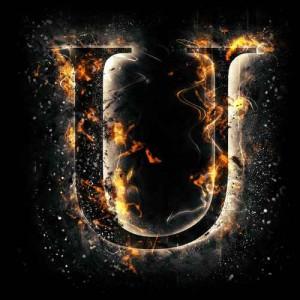 litera u - ogień