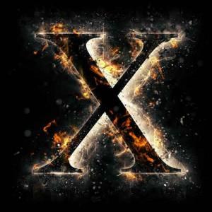 litera x - ogień