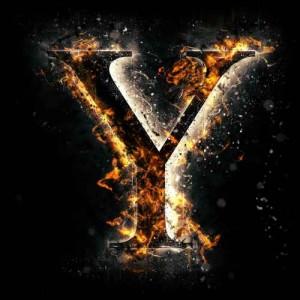 litera y - ogień