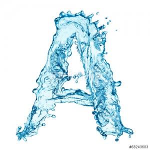 litera a - woda