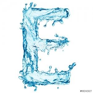 litera e - woda